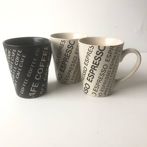 8oz Coffee and Expresso Cafe Mug set of 3.